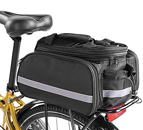 Brinny Fahrrad Gepäcktaschen Rücksitz Tasche wasserdichte Fahrradträger-Gepäckträger Tasche Tragbare Rahmentaschen Fahrradtaschen mit Regenmantel und verlängertem Schultergurt