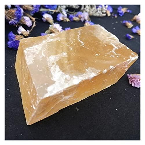 Piedra de cristal natural 50-1000G al por mayor Venta al por mayor Natural Transparente Amarillo Calcita Óptico Piedras de cristal anaranjado y Espécimen de piedras preciosas ásperas minerales