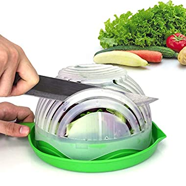 Salad Cutter Bowl Upgraded Salad Maker by WEBSUN Easy Fruit Vegetable Cutter Bowl Fast Fresh Salad Slicer Salad Chopper