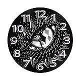 Mailine Reloj de Pared Redondo Reloj de PVC con Ojo de dragón Reloj silencioso sin tictac Reloj de Pared Circular Decorativo