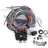 WAQU Arnés de cableado de 12 - Kit de arnés de cableado Universal de 12 circuitos Alambre de Varilla Caliente de Calle Cobre plástico Modificado para automóvil