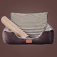 ペット用ベッド・クッション 小/中/大型犬 猫 スクエア型 もこもこ 柔らかい ソフト ぐっすり眠る 通気性 快適 伸縮性 耐久性 噛み耐え 耐汚れ 滑り止め 取り出し かわいい 毛布+おもちゃ 犬ベット ペットソファー 全16色 5サイズ