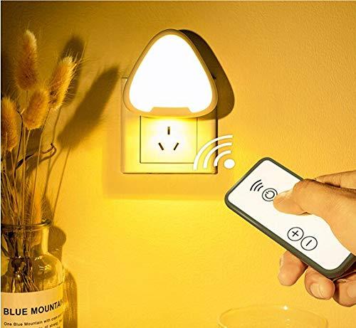 JDD nachtlampje voor afstandsbediening, 0,12 W, eenvoudig te installeren, voor slaapkamer, nachtkastje, kast, trappenhuis, hal, 2 stuks, warm licht