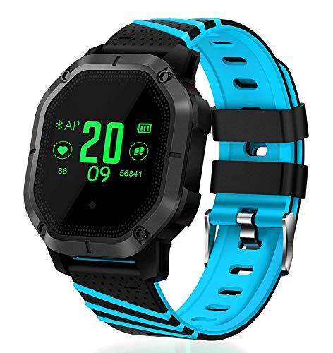 AZZ IP67-activiteitstracker-bloeddruk-intelbare armband, hartslag-fitnessarmband, waterdicht, met stopwatch-sport-GPS-pedometer