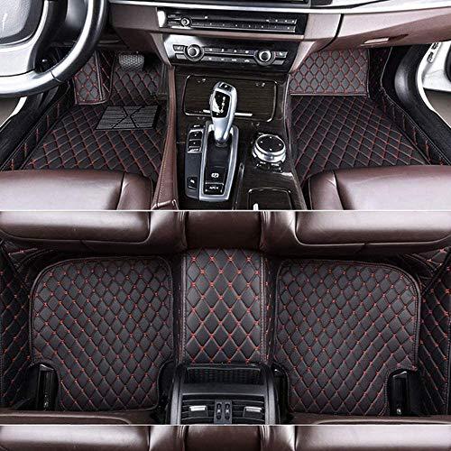 Youthus Alfombrillas De Coche Personalizadas Alfombras De Pie para Mercedes Benz EC GLA GLE GL CLA GLK CLS CLK SLK GLS GLC Cobertura Completa Impermeable Antideslizante Alfombra de Cuero Negro Rojo