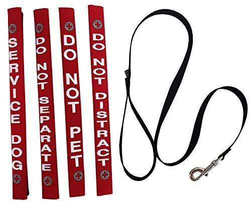 ActiveDogs Service Dog Identification Leash Wrap Set + Free Leash - 15