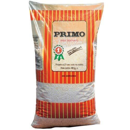 Petgnam Sacco Primo 5 kg Riso Soffiato per Cani Fiocchi Alimento Cibo Zootecnico