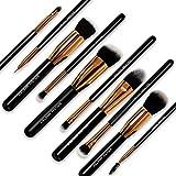 Brush Master Makeup Brushes Set for Kabuki Foundation Powder Concealers Eyeshadow Blush, W/Travel Brush Pouch, 10 Pcs