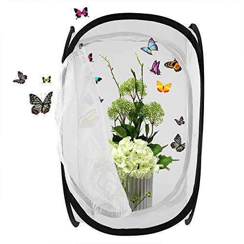 Haokaini Opvouwbaar kweekhuis van vlinders, draagbare geventileerde insectenkoos, opbergkooi voor kleine dieren