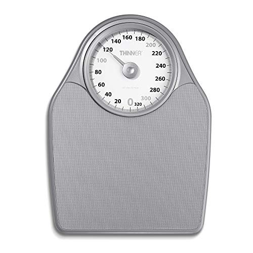 Thinner ExtraLarge Dial Analog Precision Bathroom Scale Analog Bath Scale Measures Weight Up to 330 Lbs
