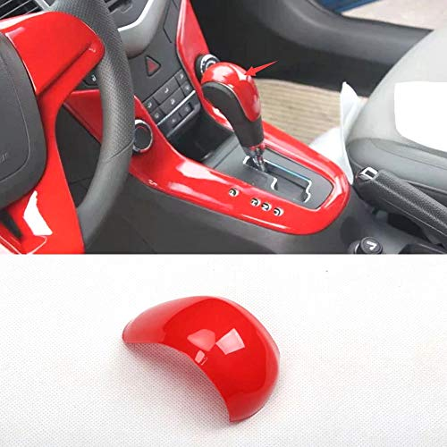 Daojun Ajuste para Chevrolet Cruze 2009-2013 2015 en Modelo Coche Gear Shift Knob Pegatina Cubierta de Coche Cubierta de Coche Estilismo 4 Colores (Color Name : Red)