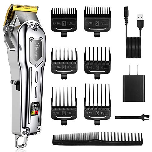 Hatteker Mens Hair Clipper Cordless Hair Trimmer Professional Haircut Barber Kit Hair Cutting Kit...