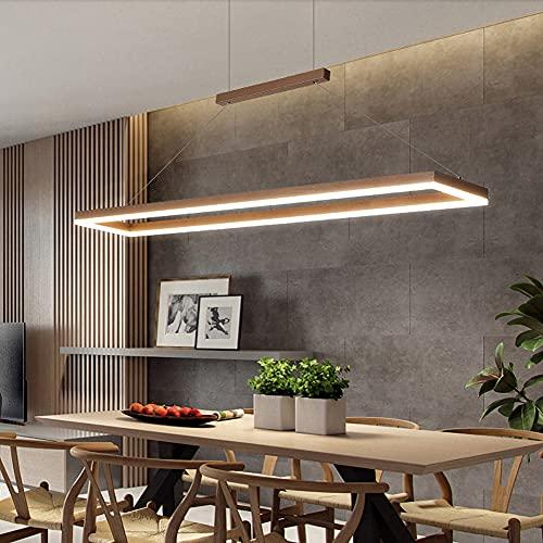 LED Lámpara Comedor Techo Colgante Regulable, Moderno ajustable Lámpara para Mesa de Comedor Salón con Mando a Distáncia 70W (90x18cm) Iluminación de Araña Plafón