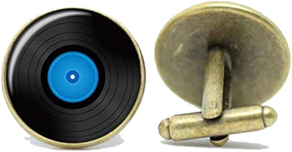 Death Devil Vinyl Single Record Cufflinks Gift for Music Lovers, DJ's and Mods,Gift of Love