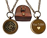 WOANIN Your Tommy Your Tubbo Locket Compass Necklace Pendent Set Antique (Tubbo Tommy (Pair))