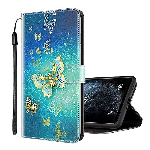 Sinyunron Klapphülle für Handy Motorola One Action Hülle Leder Brieftasche Handytasche,Klapptasche Lederhülle Hüllen Hülle Schutzhülle Tasche Cover (Hülle-05B)