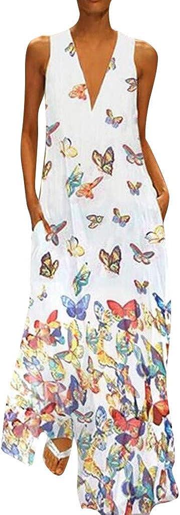 Summer Womens Long Dress Max 90% OFF 2020 New Beach Detroit Mall Deep Ta Neck Gown V Sexy