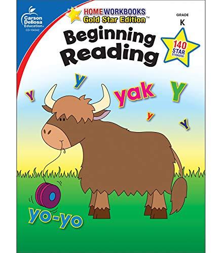 Carson Dellosa | Beginning Reading Workbook | Kindergarten, 64pgs (Home Workbooks)