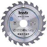 kwb 585457 Plaque de bois aggloméré pour scie circulaire Bois dur 170 x 30 mm Coupe nette Nombre moyen 22 dents Z-22 Lame CleanCut Moyenne 170 x 30 mm