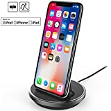 NXET Chargeur Dockstation Station d'accueil Support pour for Apple iPhone XS Max XR X 8 7 6S 6 Plus SE 5S 5C 5 / iPad Mini / iPad...