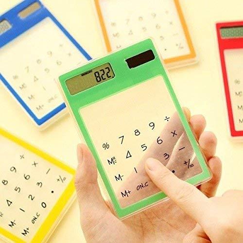 Ogquaton - Calculadora de Bolsillo con función estándar para Estudiantes, 8 dígitos, Pantalla LCD, energía Solar, Transparente, Ultrafina, portátil, útil