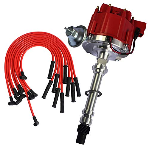 JDMSPEED New HEI Distributor With Spark Plug Wires Ignition Combo Kit Replacement For Chevy SBC 350 BBC 454