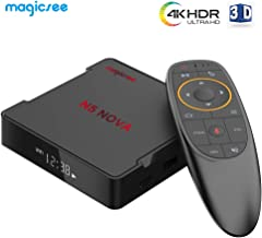 TV Box with Voice Control, 2019 Latest Android 9.0 4GB RAM 64GB ROM Smart TV Box, 2.4GHz + 5GHz WiFi, Magicsee N5 NOVA OTT TV Box Support UHD 4K HDR 3D
