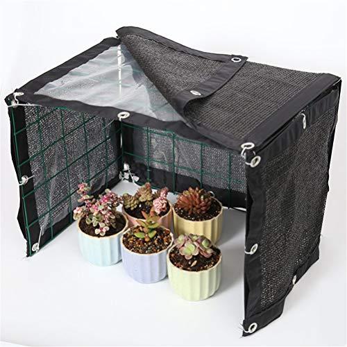 Universele buiten sunblock resistente schaduw mesh + transparante doek, luifels mesh anti-regen paneel voor plantendek kas, schuur, kennel, (geen groen frame en bloem), 90 * 42 * 42cm