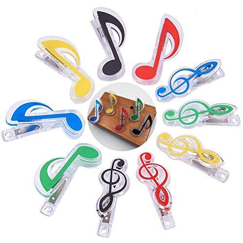 Clips para Notas Musicales Pinza de Nota Musical Pinzas para Partituras Pinzas...
