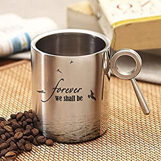 Hot Muggs Forever, We Shall Be Stainless Steel Double Walled Mug 265ml, 1 Pc