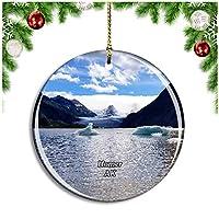 ホーマーカケマクベイアラスカ米国クリスマスデコレーションオーナメントクリスマスツリーペンダントデコレーションシティトラベルお土産コレクション磁器2.85インチ