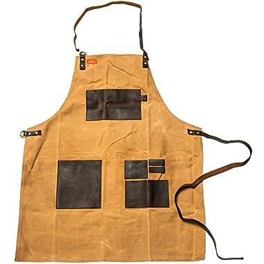 Traeger APP197 Apron Brown Canvas & Leather XL