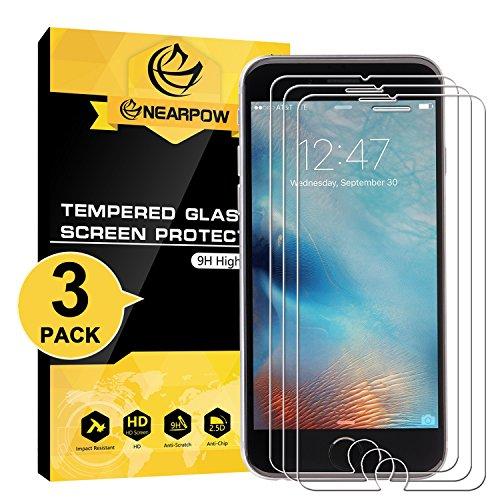 NEARPOW [3 Stück] iPhone 6S/ 6 Panzerglas Displayschutzfolie, Schutzfolie 9H Härte, Anti-Kratzen, Anti-Öl, Anti-Bläschen, Anti-Fingerabdruck, Ultrabeständig