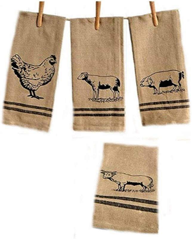 4 Pc Farmhouse Kitchen Towel Set