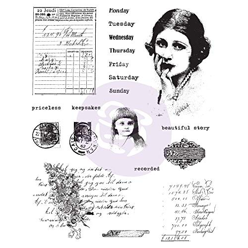 Prima Marketing Finnabair Cling Stamps 6'X7.5'-Beautiful Story