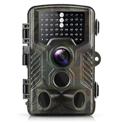 ZIMOCE - Cámara de caza, 16 MP, 1080 P, con visión nocturna, activada por movimiento, con brillo bajo, resistente al agua, IP66 para observación de vida silvestre al aire libre