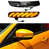 TIKSCIENCE 2Pcs Dynamic Led Turn Signal Lights, Fit for Ford Focus 2012-2018 MK3 RS ST, Side Marker and Turn Signal Combos Smoked Lens Amber Sequential Flash LED - Black
