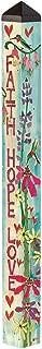 Studio M Garden Art Pole Fade-Resistent Outdoor Décor , 4-Feet Tall, Faith, Hope and Love