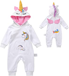 Hooded Infant Unicorn Onesie, Pajamas, Romper, Bodysuit, Unicorn Costume