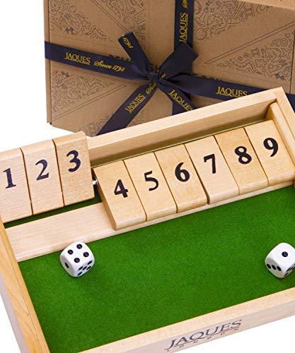 Jaques von London 9s Schließen Sie die Box Holz Spiele - Perfektes Lernspielzeug für 3 4 5 5 6-Jährige und tolle Familienbrettspiele - Holz Spiele und Lernspiele für Kinder seit 1795