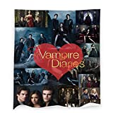The Vampire-Diaries Throw Blanket, Damon and Stefan-Salvatore Flannel Blankets for Bedding Sofa Living Room Throws Home Decoration All Season 40x50 inch
