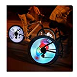 Kexle 3D LED Bicycle Spoke Lights, Color Changing Programmable Waterproof Bicycle Light Spoke Wheel Light Bike Light Lamp, 2021 Cool Bicycle Tire Spoke Decoration for Night Ride