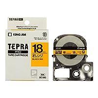 キングジム テプラPRO テープカートリッジ カラーラベル/パステル 18mm オレンジ地/黒文字 SC18D