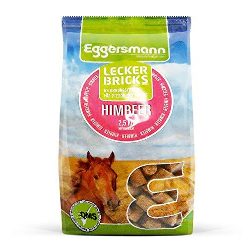 Eggersmann Lecker Bricks Himbeer – Pferdeleckerlis Himbeere – Leckerlies für Pferde und Ponies – 2,5 kg Beutel