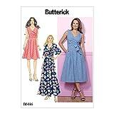 Butterick Patterns Butterick-Schnittmuster 6446A5, Kleid-Schnittmuster Misses Dress, Größen 34-42, Mehrfarbig