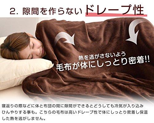 『昭和西川 マイクロファイバー毛布 洗えるフランネルタッチ シングル 140×190cm ブラウン 20700004 12AM 【64572】』の5枚目の画像