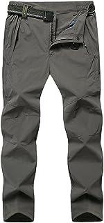 LaoZanA Pantalon Trekking Hombre Transpirable Secado Rápido