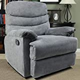 Frivity Massage Recliner Chair, Microfiber Living Room Ergonomic Sofa with Vibrating Control Home Theater Seating Fit for All Age, Grey