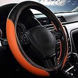 XINGJU Cuero de la Microfibra ecológica Duradera Resistente a Prueba de Skid Que se amortiza la Cubierta del Volante del automóvil, tamaño 36-50 cm /14.2-19.7 Pulgadas (Size : 47cm)