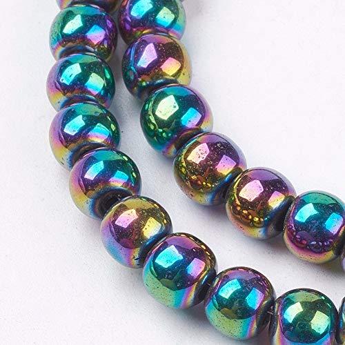 Charming Beads Strang 62+ Regenbogen Hämatit (Nicht Mag) 6mm Rund Perlen GS15620-4